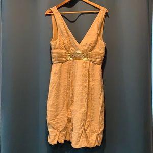 BCBG Maxazria size 12 gold dress